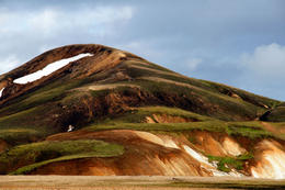 Multicolored rhyolite mountains in Landmannalaugar region near Hekla volcano, Reykjavik - November 2011