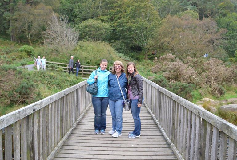 My sister, my mom and I on our tour - Dublin