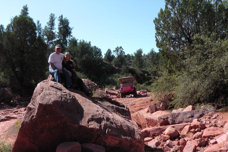 Photo-op on Ancient Ruin Jeep Tour - Sedona