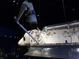 This is the actual space shuttle, not a replica. Very interesting exhibit. , Bob D - January 2014