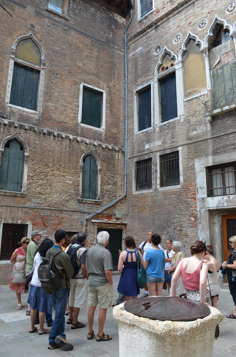 Square outside Marco Polo House - Venice