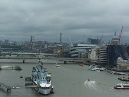 View of the Thames River from the Tower Bridge observation deck , Scott T - October 2015