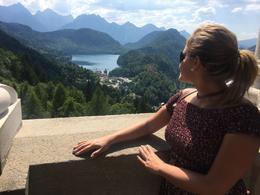 City view from inside Neuschwanstein Castle , Nery - July 2017