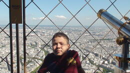 Ahmad on the summit of Eiffel tower , Mohsen H - September 2013
