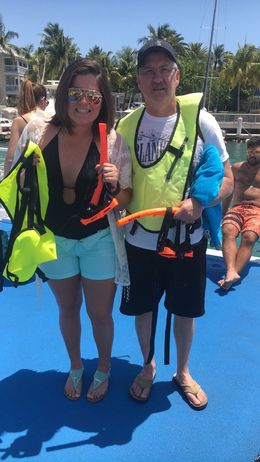 This was Dad and I's first time in the Keys as well as sailing and snorkeling in the pristine Caribbean waters and we had a blast! Bucket list items for us both and it was a great day to make ... , Donald K - July 2016