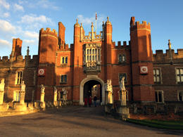 Approaching Hampton Court Palace , Donna S - January 2015