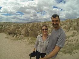 Enjoying the amazing rocks, Patricia P - July 2014