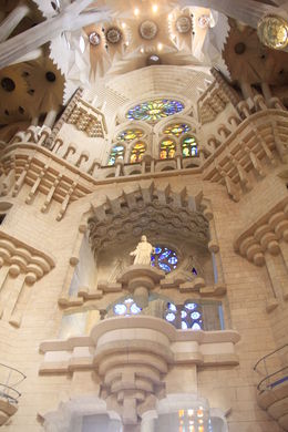 Inside of Sagrada Familia , Barb K - October 2015