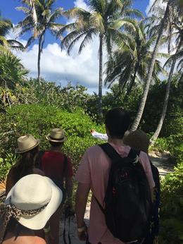 Walking along nature in Isla Contoy, Suraj - October 2016