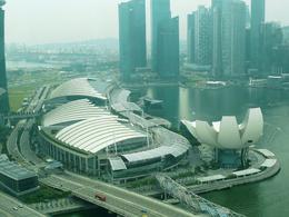 from the singapore flyer - the complex without the hotel towers , Beverly B - April 2013