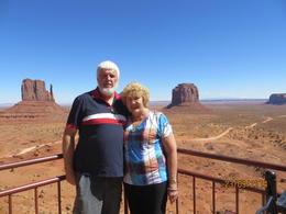 Peter and Marg at Monument Valley. This was definitely on my bucket list. , Peter C - October 2014