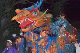 Dragon float during a parade. - January 2014