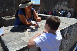 Lavina explained what a grocery store would be like at the time of the eruption. , jennisue77 - August 2015