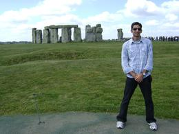 Just posing in front of the stonehenge, Gaurav K - July 2010