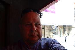 grumpy old man on bus , Andy B - April 2016