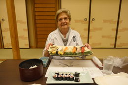my wife showing proudly the selfmade sushi , Jurgen B - May 2015