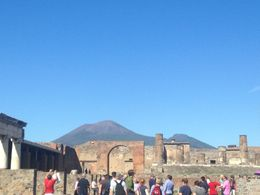 It was a great day for the tour and for doing the hike to Mount Vesuvius. , Connor D - October 2015