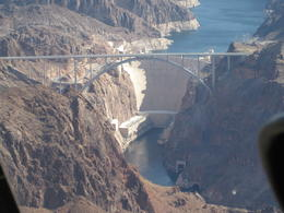 Great views of the Hoover Dam and bypass bridge, Cutie Repolinos - April 2013