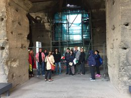 This is our tour guide Laura explaining the ruins to the group , Pabasari G - May 2016