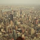 Helicopter flight through Manhattan, New York, New York, NY, UNITED STATES