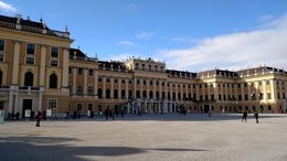 The front of Schonbrunn Palace , Mari - February 2016