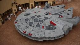 Check out miniature Lego-built replicas of ships from Star Wars at Legoland in San Diego, California! - July 2011