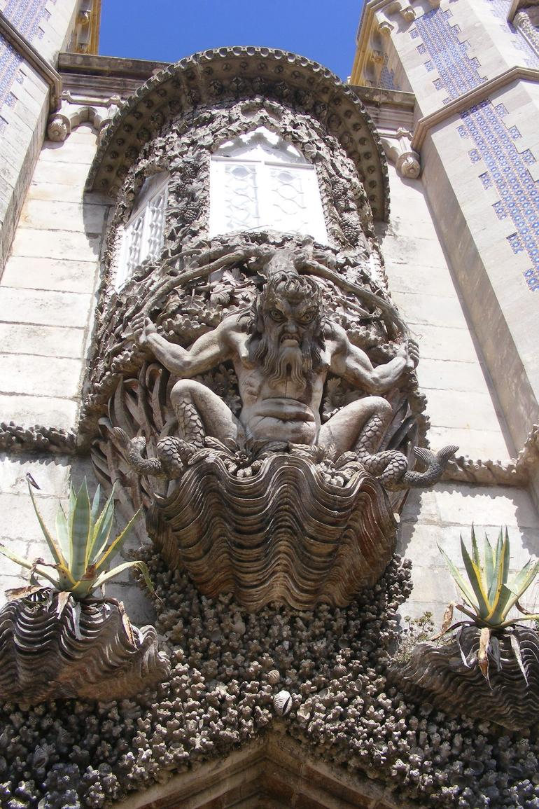 The Gargoyle at the castle .. scary !! - Lisbon