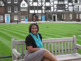 Me on the grounds at the Tower of London , Nikki H - July 2012