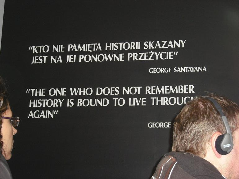 A plaque at Auschwitz - Krakow