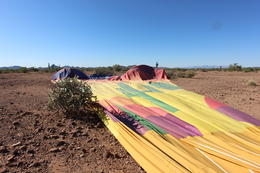 After landing, we had our picnic lunch while the balloon deflated, Bandit - October 2013
