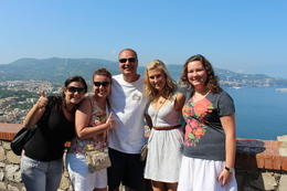 Amalfi Coast: What an amazing day! Renee, Derrick, Ashley and Cari in Italy with our wonderful tour guide, Maria. - November 2011