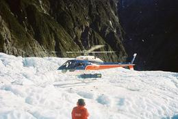 This shot was taken as the helicopter was landing on the ice and ready to take us back to the town. It was cool watching the pilot land on the ice. - July 2008