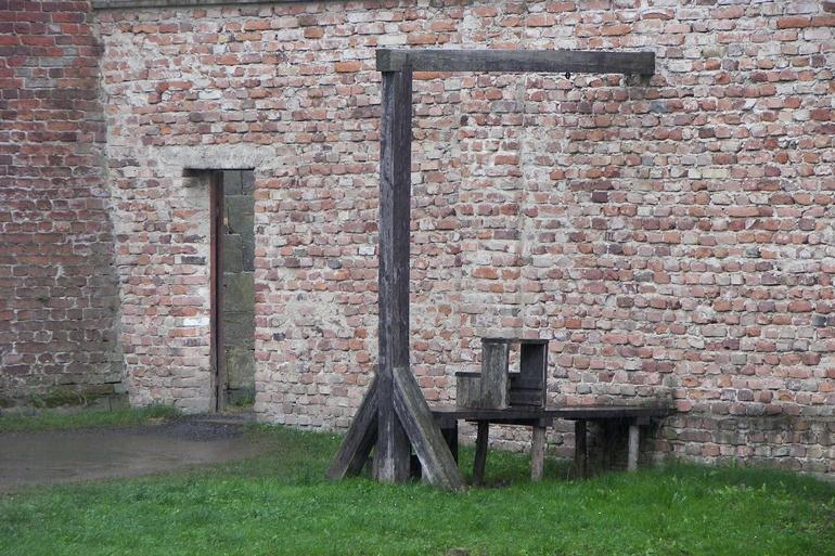 Gallows for those hanged, instead of shot. - Prague