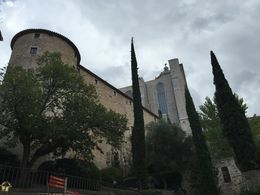 A view from the rear side of the Old Cathedral in Girona , Caleb - October 2015
