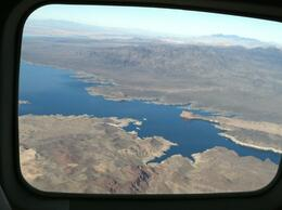 View of Lake Mead from the airplane, taylor - December 2011