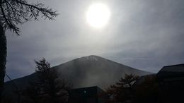 See the snow glistening at the top of Mt Fuji , Tesa - November 2015