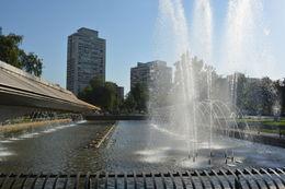 Existem muitas e bem cuidadas praças em Santiago. , Geanini T M P - February 2015
