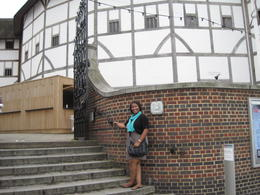 Having a Doctor Who moment at The Globe Theatre , Nikki H - July 2012