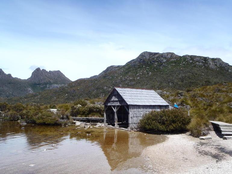 The iconic Boathouse at Dove Lake - Tasmania