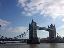 We saw the bridge open up twice to let ships pass through during our visit to the Tower of London., emmaknock - October 2015