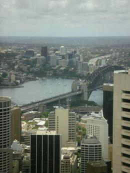 Sydney Tower Restaurant View from our table outside - January 2010