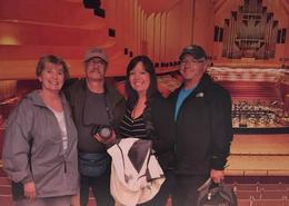 Wanda, Bill, Tammy, Greg on our family trip enjoying seeing all the venues , wwmelton - October 2016