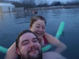 relaxing in the secret lagoon , sara s - December 2016