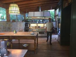 The indoor kitchen at the farm house with Chef Isaac , Katharine - June 2017