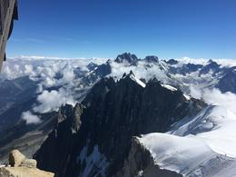 view from the top of Mont Blanc , Morgan M - July 2017