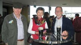 Enjoying our free Guinness , Roger G - October 2017