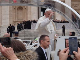 The pope as he made his way past us several times. , jimm - November 2017