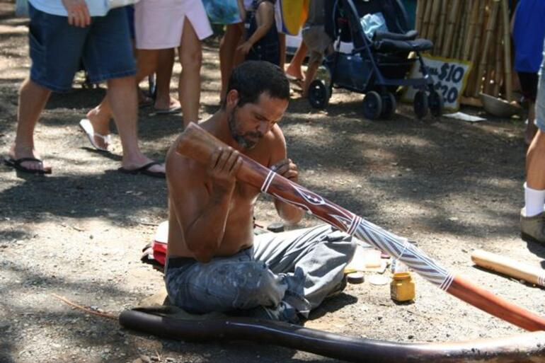 Didgeridoo at Bangalow Market -