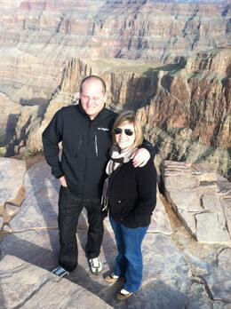 The West Rim of the Grand Canyon is beautiful, but a little scary because there are no boundaries!, taylor - December 2011