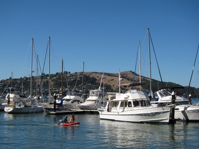 Here's the marina at Ayala Cove -